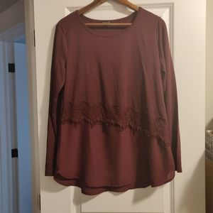 Burgendy longer style dressy shirt